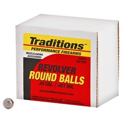 Traditions Round Ball .44 Caliber Ammunition