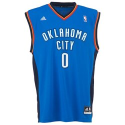 adidas Men's Oklahoma City Thunder Russell Westbrook No. 0 Revolution 30 Replica Jersey