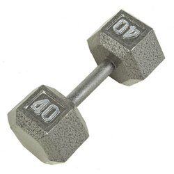 CAP Barbell 40 lb. Solid Hex Dumbbells