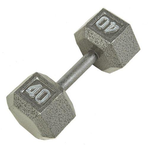 CAP Barbell 40 lb. Solid Hex Dumbbells