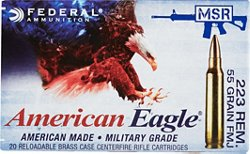 American Eagle® .223 Remington 55-Grain Centerfire Rifle Ammunition