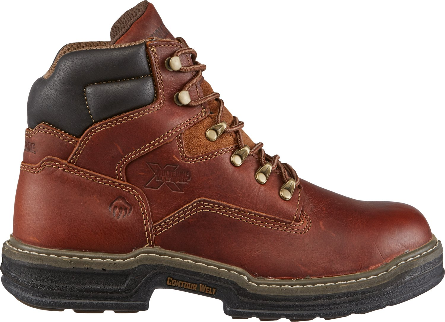 85d6c16d150 Wolverine Raider Men's MultiShox Contour Welt 6 in EH Lace Up Work Boots