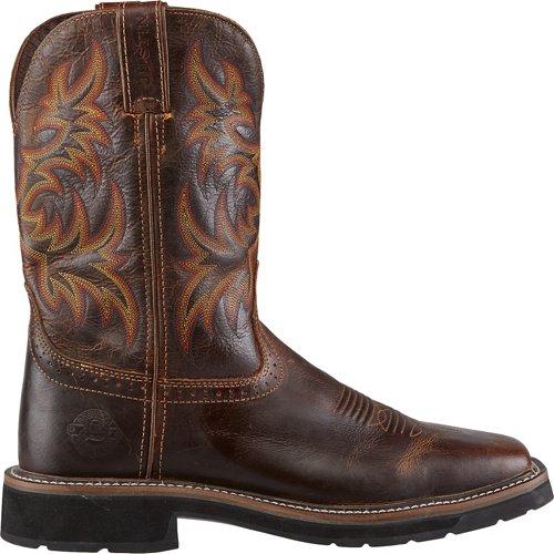 Justin Men's Stampede Square Toe Work Boots