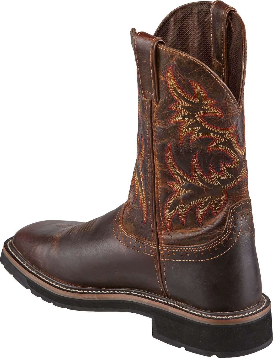 Justin Men S Stampede Square Toe Work Boots Academy