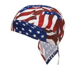 ZANHeadgear Flydanna Wavy American Flag Bandanna