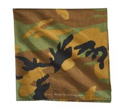 ZANHeadgear Woodland Camouflage Premium Bandanna