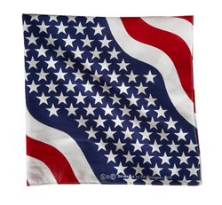 ZANHeadgear Wavy American Flag Premium Bandanna