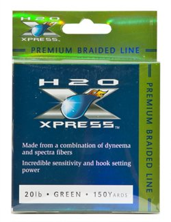H2O XPRESS Premium Braid 20 lb 150 yards Braided Fishing Line