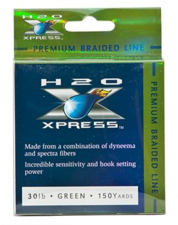 H2O XPRESS Premium Braid 30 lb - 150 yards Braided Fishing Line