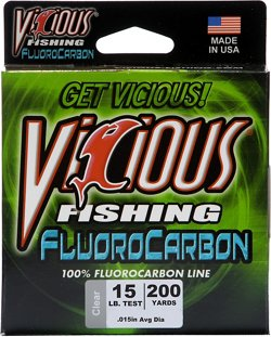 Vicious 15 lb. - 200 yards Fluorocarbon Fishing Line