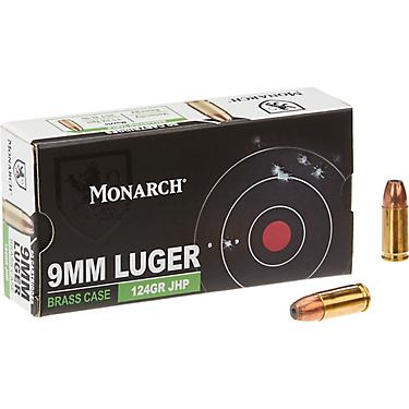 Monarch® JHP 9mm 124-Grain Centerfire Ammunition