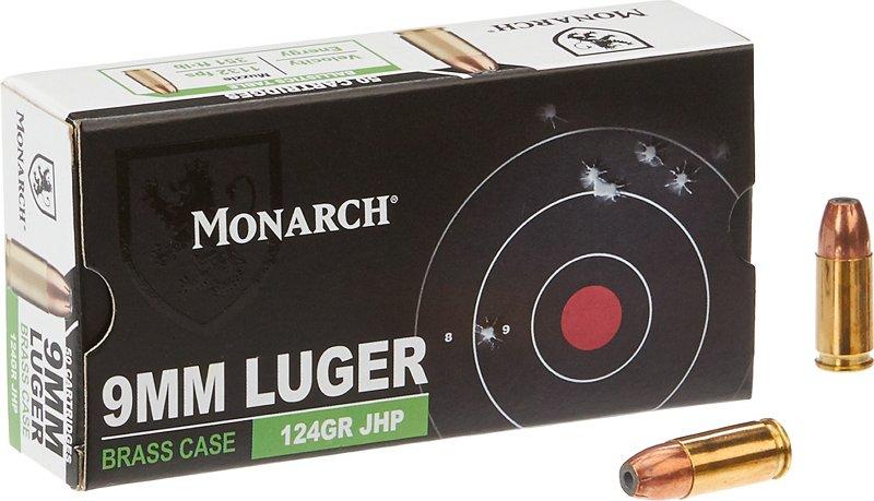 Monarch JHP 9mm 124-Grain Centerfire Ammunition 000 – Pistol Shells at Academy Sports