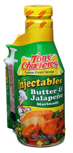 17 oz. Butter and Jalapeno Injectable Marinade with Injector