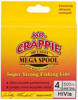 Mr. Crappie® MEGA Filler 4 lb. - 500 yards Monofilament Fishing Line
