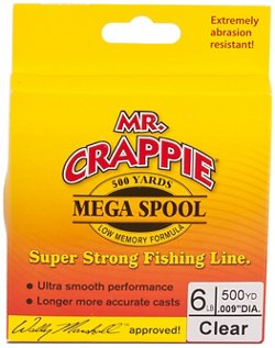 Mr. Crappie® MEGA Filler 6 lb. - 500 yards Monofilament Fishing Line