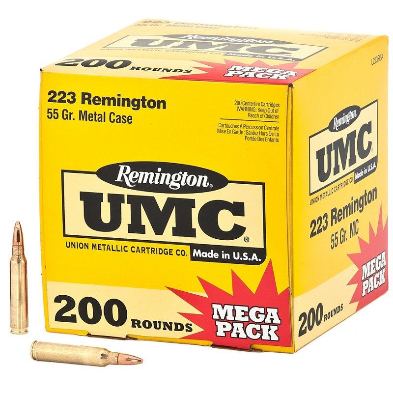 Remington UMC .223 Remington 55-Grain Centerfire Rifle Ammunition – Rifle Shells at Academy Sports