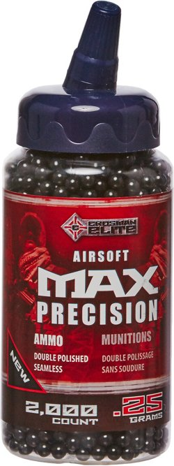 Crosman Black 6mm Airsoft BBs 2,000 Count