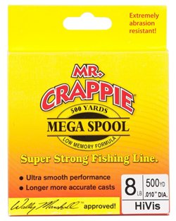 Mr. Crappie® MEGA Filler 8 lb. - 500 yards Monofilament Fishing Line