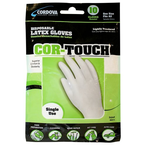 Cordova Consumer Products Latex Gloves 10-Pack