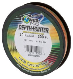 PowerPro Depth Hunter 20 lb. - 500 feet Braided Fishing Line