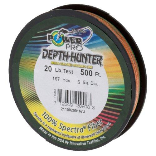 PowerPro Depth Hunter 20 lb. - 500 feet Braided Fishing Line