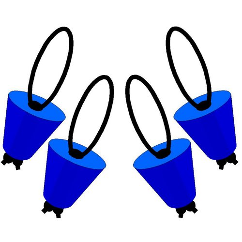 Yak-Gear™ Universal Scupper Plugs 4-Pack