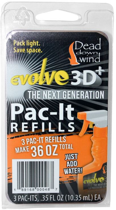 Dead Down Wind Evolve3 ScentPrevent™ Pac-It Concentrate Field Spray Refills 3-Pack