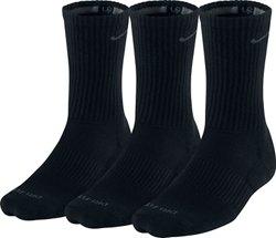 Nike Adults' Dri-FIT Half Cushion Crew Socks 3 Pack