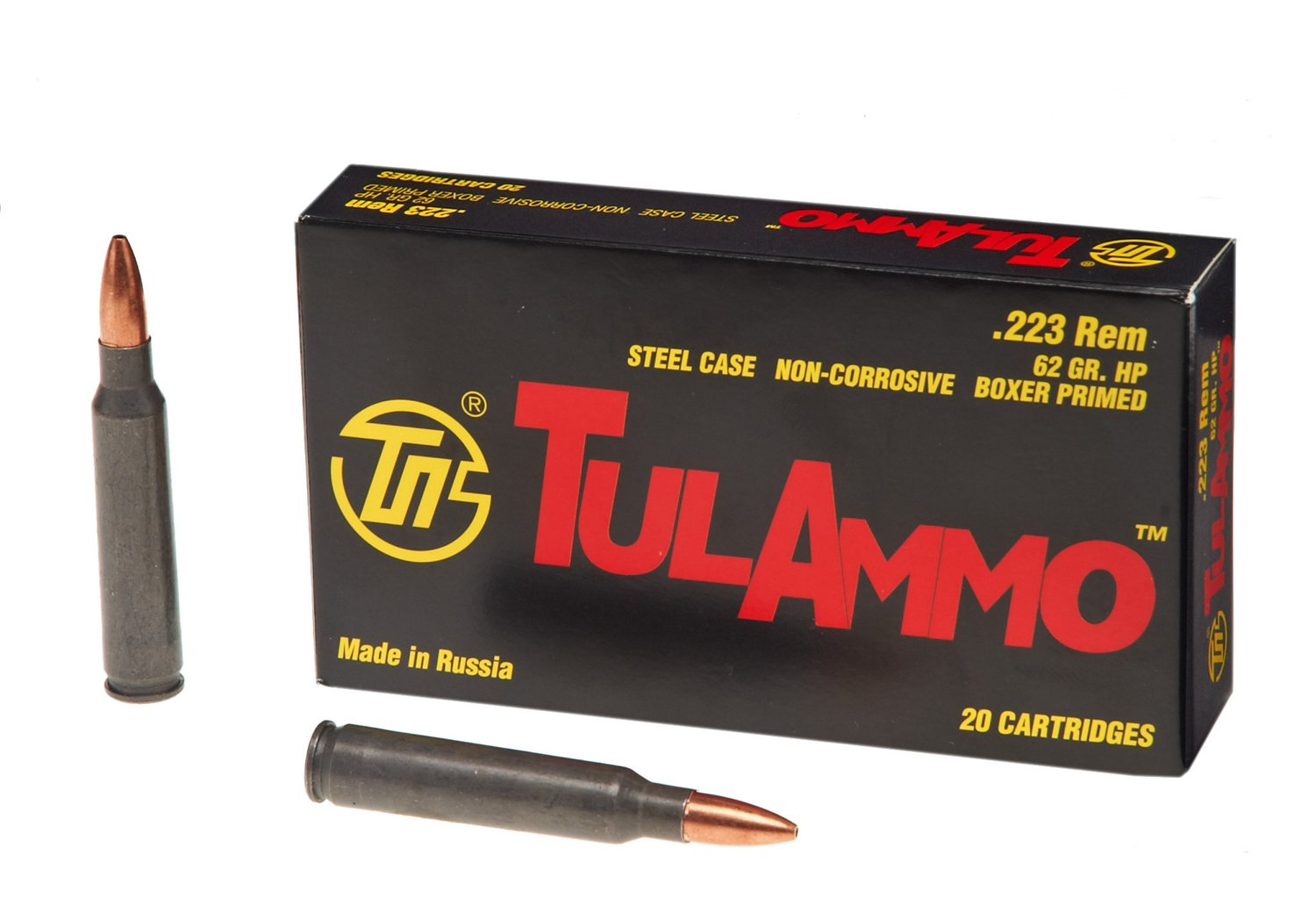 TulAmmo .223 Remington 62-Grain HP Centerfire Rifle Ammunition