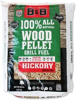 B&B Hickory 20 lb. Pellet Grill Fuel
