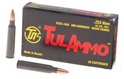 TulAmmo .22 Remington 55-Grain Centerfire Rifle Ammunition