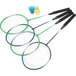 4-Player Badminton Racquet Set