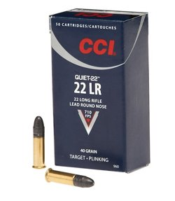 CCI® Quiet .22 LR 40-Grain Rimfire Ammunition