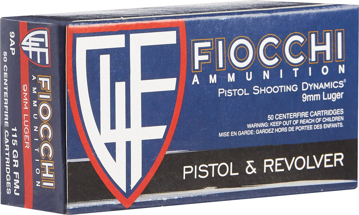 Fiocchi Pistol Series Dynamics 9mm 115-Grain Centerfire Ammunition
