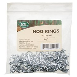 "3/8"" Hog Rings 100-Pack"