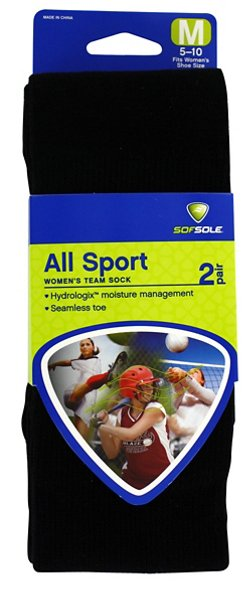 Sof Sole Women's Team Performance Socks 2 Pack