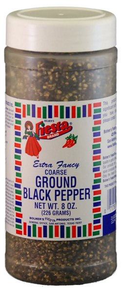 Bolner Fiesta 8 oz. Coarse Black Pepper