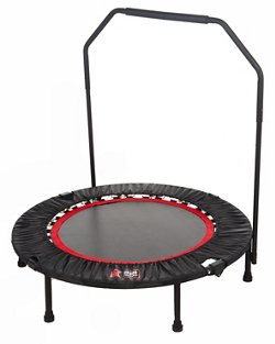 "Urban Rebounder 40"" Round 1/4-Fold Trampoline with Stabilizer Bar"
