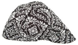 ZANHeadgear Adults' Black Paisley Pattern Welder's Cap