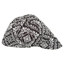 Adults' Black Paisley Pattern Welder's Cap