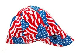 ZANHeadgear Adults' Wavy Flag Pattern Welder's Cap