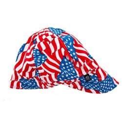 Adults' Wavy Flag Pattern Welder's Cap