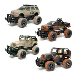 Mud Slinger Ford F-150 and Jeep Wrangler RC Assortment