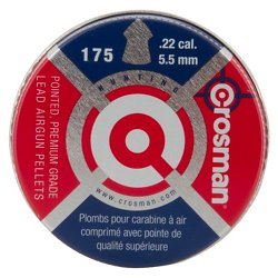 .22 14.3-Grain Pointed Air Gun Pellets 175-Pack