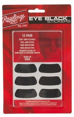 Rawlings Eye Black Stickers 12-Pack
