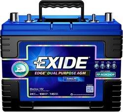 Exide Edge AGM Flat Plate Dual Purpose Marine Battery