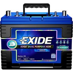 Edge AGM Flat Plate Dual Purpose Marine Battery
