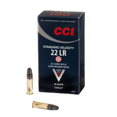 CCI® Standard Velocity .22 LR Caliber 40-Grain Rimfire Ammunition