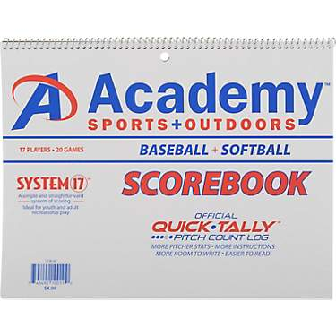 Academy Sports + Outdoors System-17 Scorebook for Baseball and Softball