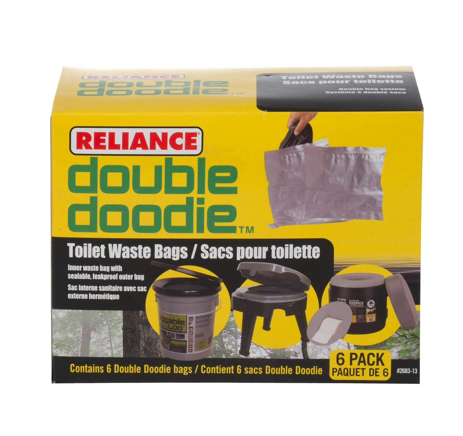 Display product reviews for Reliance Double Doodie Toilet Waste Bags 6-Pack
